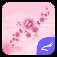 Pink Flower theme apk icon