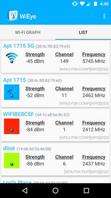 WiEye - WiFi Scanner Android - Free Download WiEye - WiFi