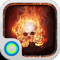 The Flame Skull Hola Theme APK Simgesi