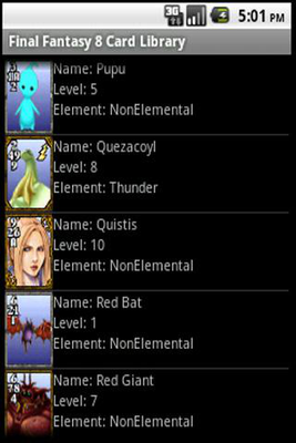 FF8 Triple Triad Card List Android - Baixar FF8 Triple Triad Card