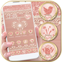 Rose Gold Launcher Diamond Heart Theme 1.1.1