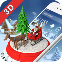 Merry Christmas 3D Theme apk icon