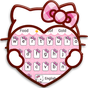 Pink Cute Kitty Cartoon Keyboard Theme 10001001