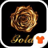 Golden Flower Rose Theme apk icon