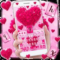 Icône de Pink Love Heart Keyboard Theme