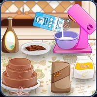 Icono de hornear y cocinar el pastel : panadería divertida