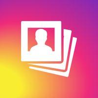 Ícone do apk big profile photo saver for instagram and repost