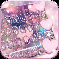 Icône de Thème de clavier Rose Gold Heart