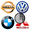 Cars Logo Color by Number: Pixel Art Coloring Book