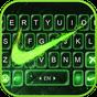 Tema Keyboard Green Neon Check