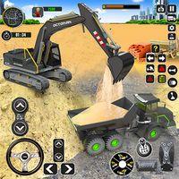 Ikon penyelamatan truk sopir simulator ekskavator