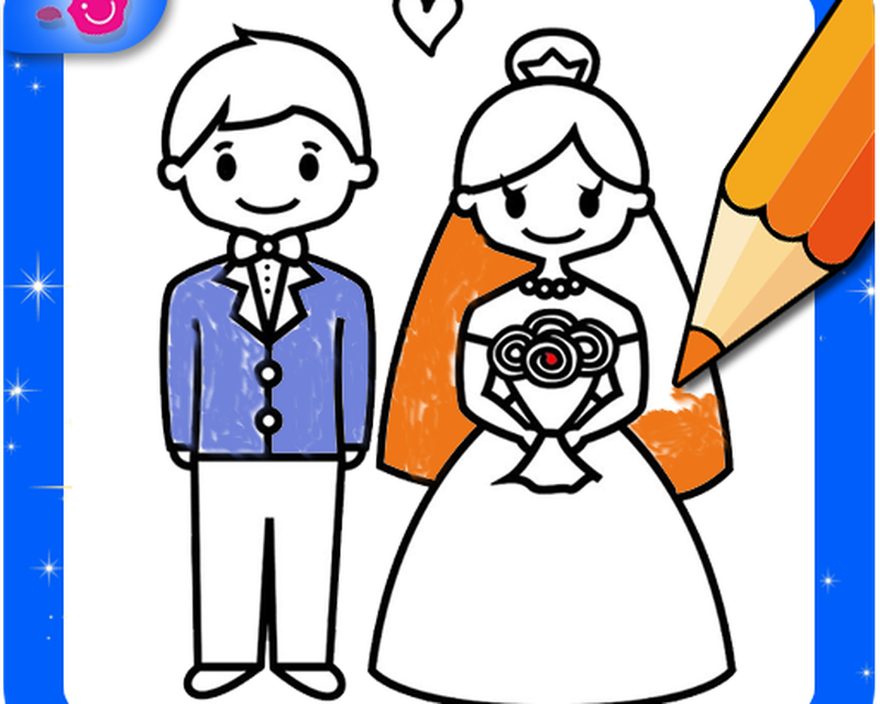 Wedding Coloring Pages Bride And Groom Apk Free Download App For Android