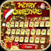 Gold Christmas Keyboard Theme icon