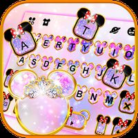 Ícone do Tema Keyboard Pink Galaxy Minny Free