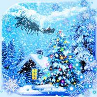 Иконка Снегопад Рождество живые обои