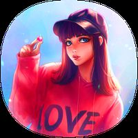 Icono de lindo fondo de pantalla para chicas