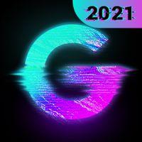 Ícone do Glitch Foto Editor -VHS, efeito, vaporwave