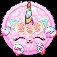 Flower Unicorn Cat Launcher Theme Live Wallpapers icon