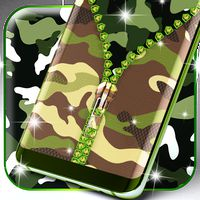 Camouflage zipper locker icon