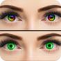 Cor dos olhos Trocador mudança Olho Cor editor