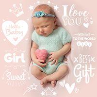 Ícone do Foto do bebê. Gravidez Adesivos Baby Photo