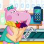 Caissier au supermarché. Jeux pour enfants