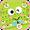 Tema Keyboard Cartoon Green Frog