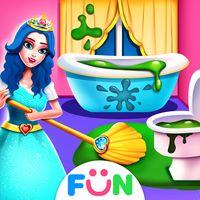 Ícone do Princesa adora limpeza - jogar jogos de casa