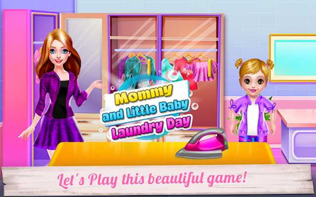 Image 10 of Mommy and Little Baby Laundry Day