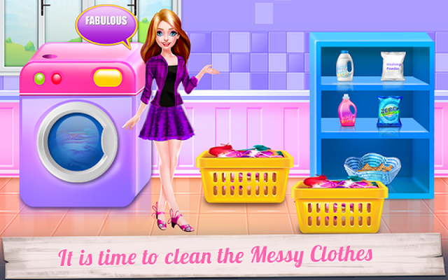 Image 22 of Mommy and Little Baby Laundry Day