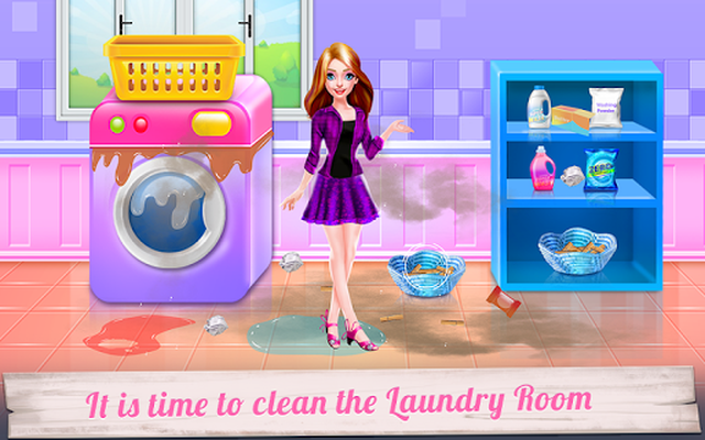 Image 16 of Mommy and Little Baby Laundry Day