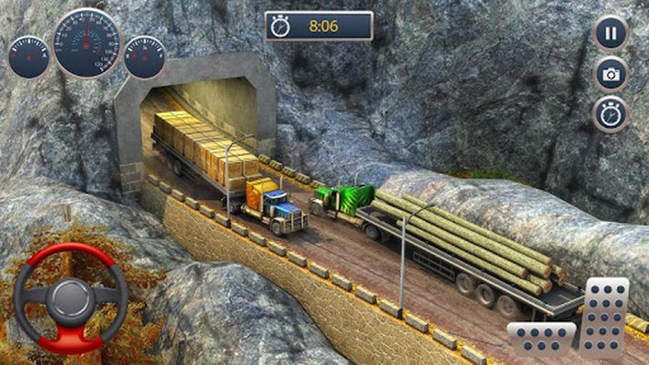 Image of Offroad Truck Cargo Transportation Driving