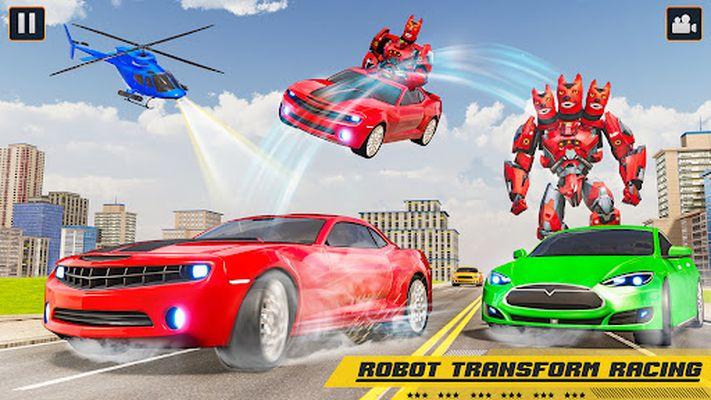 Flying robot car simulator video