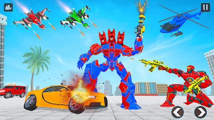 Image 4 of flying robot car simulator