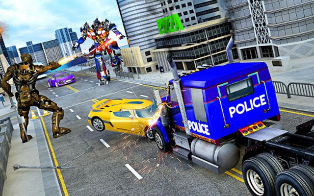 Image of Police Robot Truck