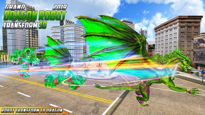Grand US Dragon Robot Battle 3D Image