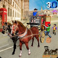 Horse Taxi City School Transport Pro icon