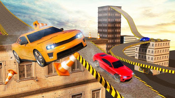 Screenshot 9 of Roof Jumping Car City Driving Simulator
