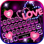 Tema Keyboard Neon Love