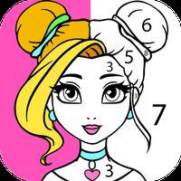 Icono de Niñas Juegos de Pintar por Número: Juegos de Niñas