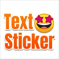 Ícone do TextSticker - Create text sticker with color font