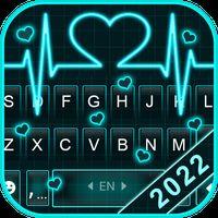 Ícone do Tema Keyboard Neon Heart Love