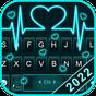 Tema Keyboard Neon Heart Love