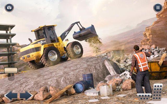 Image of Heavy Crane Excavator Construction Transportation