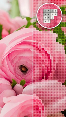 Image 15 of Color by Letter - Sewing game Cross stitch