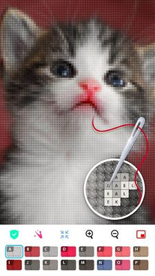 Image 13 of Color by Letter - Sewing game Cross stitch