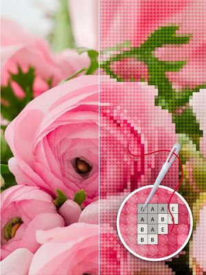 Image 9 of Color by Letter - Sewing game Cross stitch