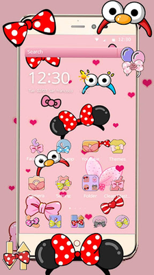 Cartoon Pink Cute Butterfly Theme Wallpaper Apk Free Download For Android
