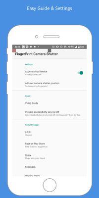 Image 1 of Fingerprint Camera shutter
