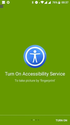 Fingerprint Camera shutter video